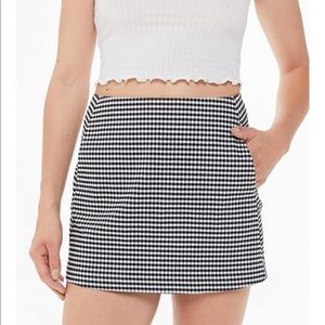 Urban Outfitters Side Pocket Checkered Mini Skirt